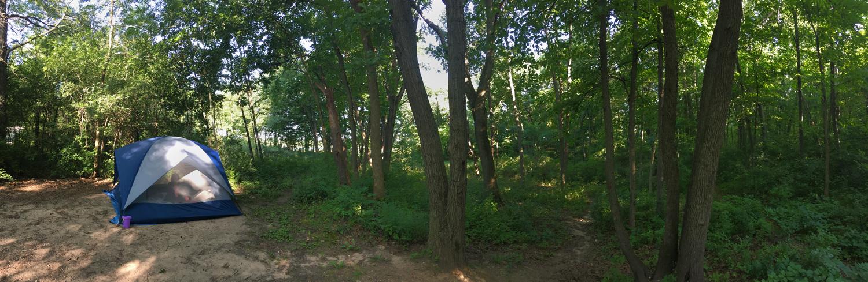 Campsite, Ottawa Lake Recreation Area