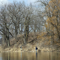 Two people fishing at Pike Lake