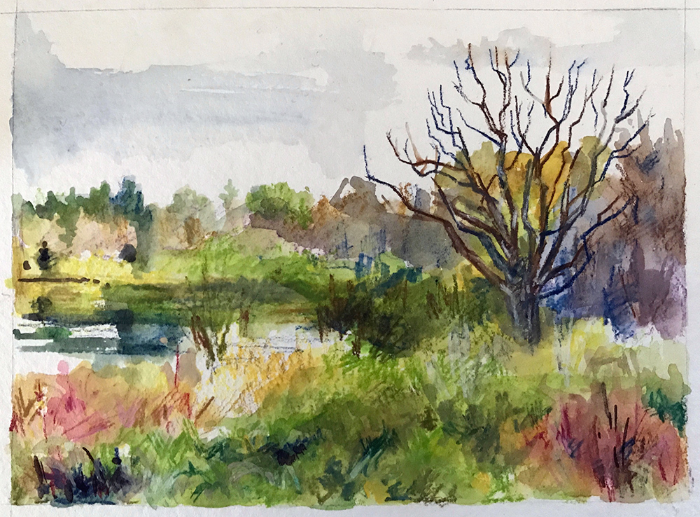 """""""Spirit Lake 2"""" - watercolor"""