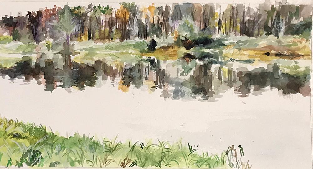 """""""Spirit Lake 1"""" - watercolor"""