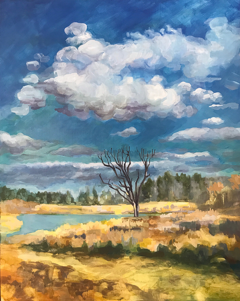 """""""Spirit Lake 3,"""" watercolor"""