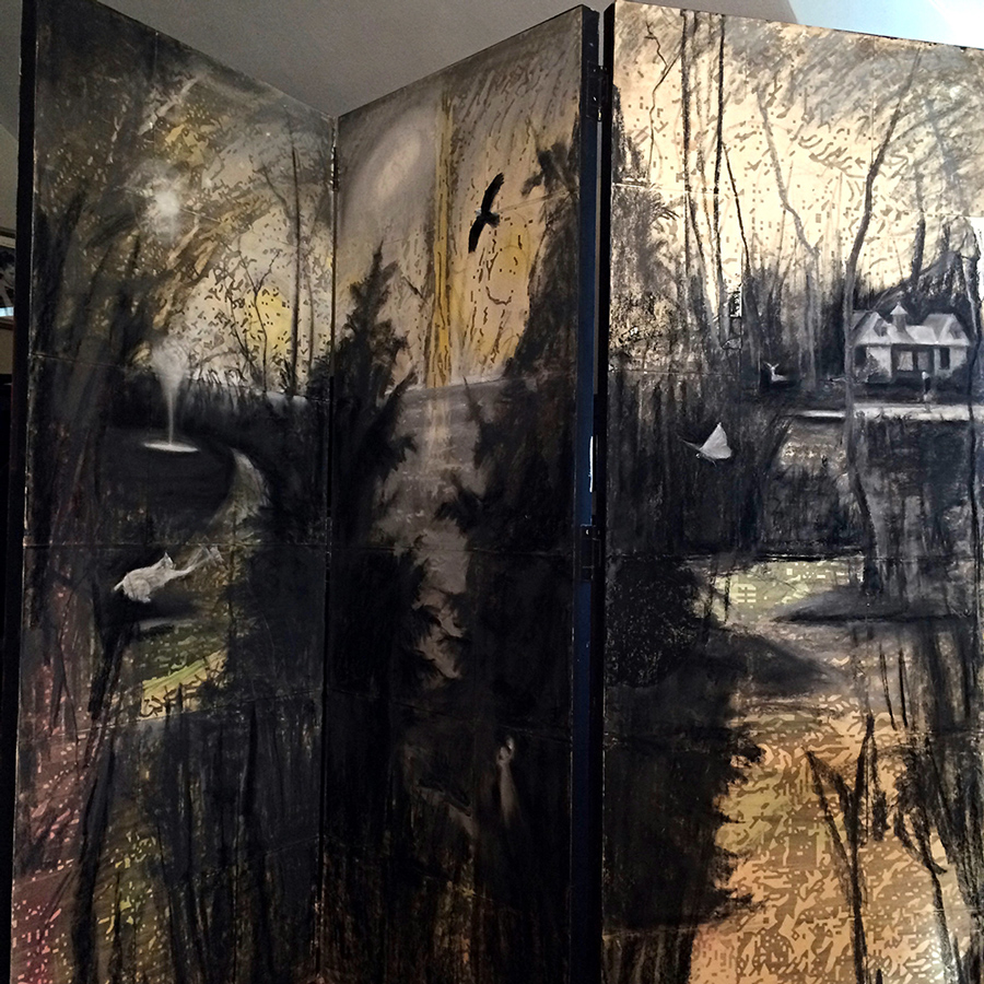 Folding screen / triptych in progress