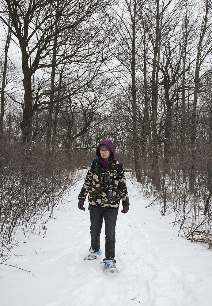 Snowshoeing at Havenwoods