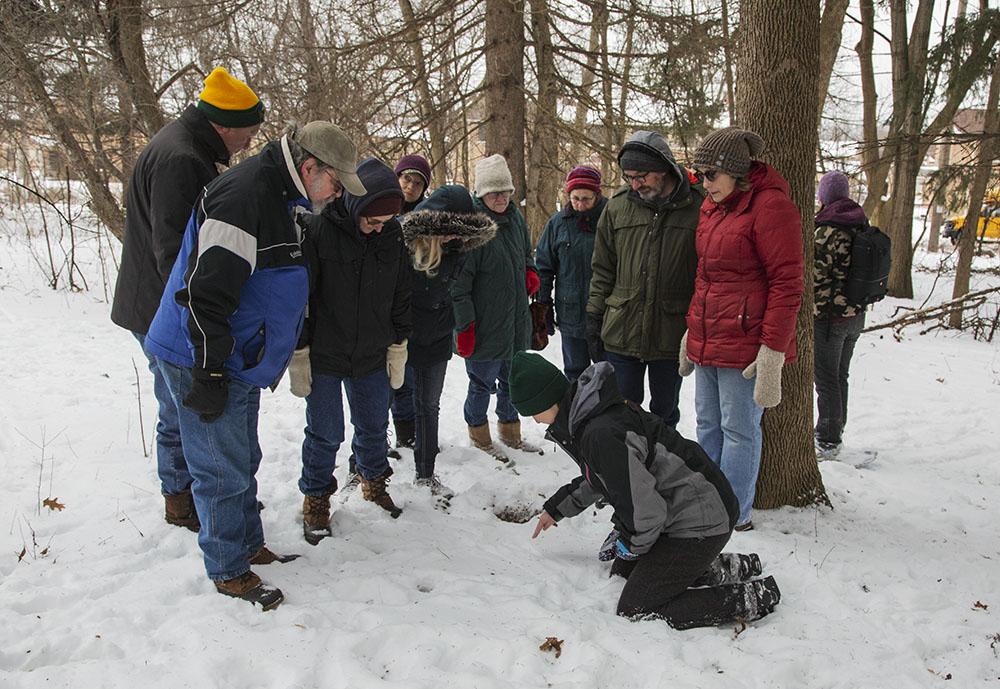 DNR guided winter tracking hike