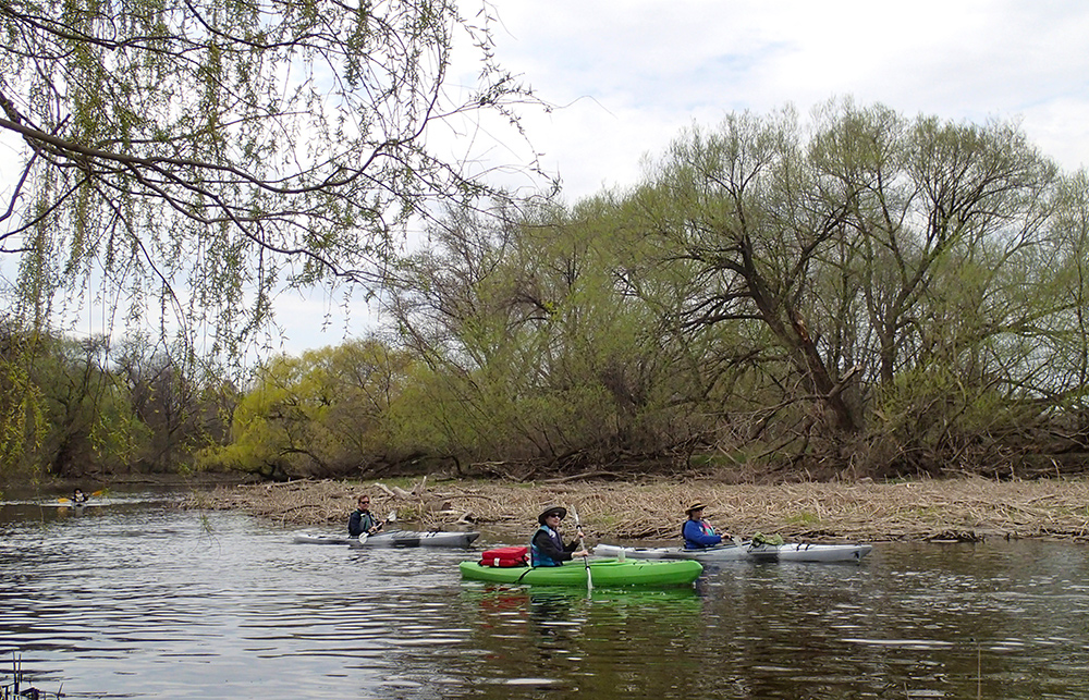 three kayaks in east oxbow