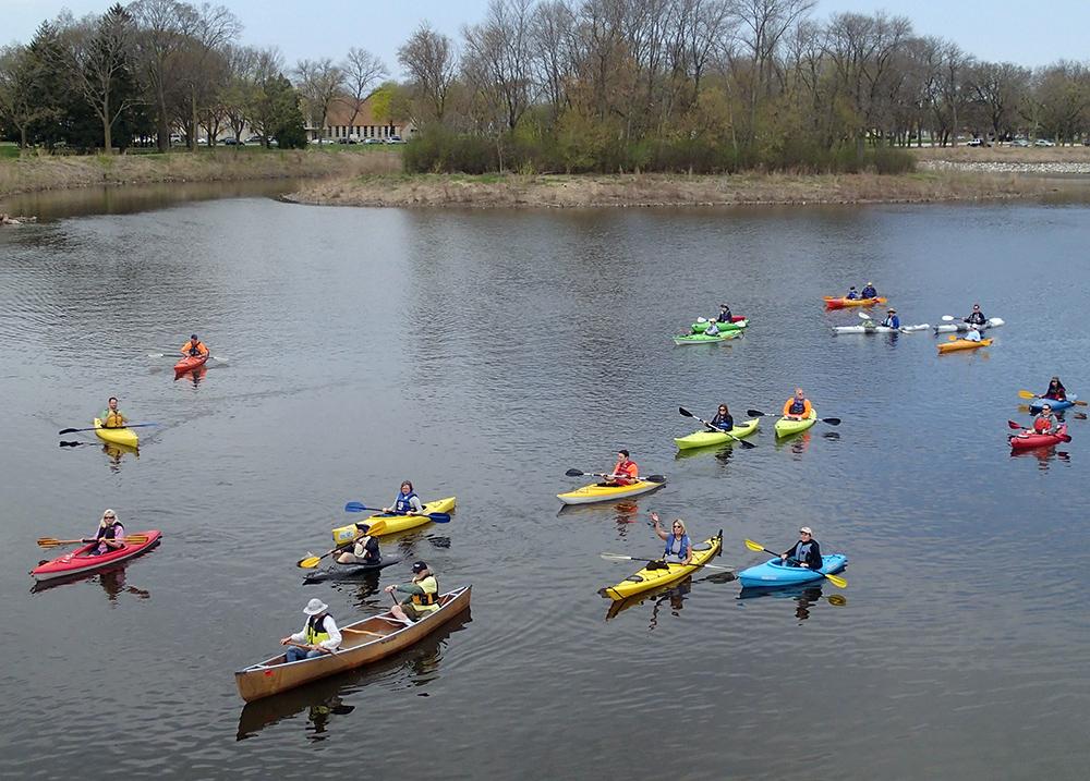 flotilla of kayaks