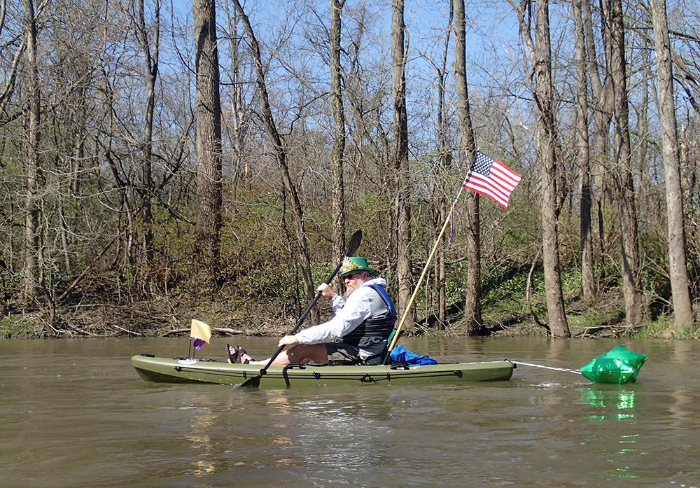 The Irishman in a kayak