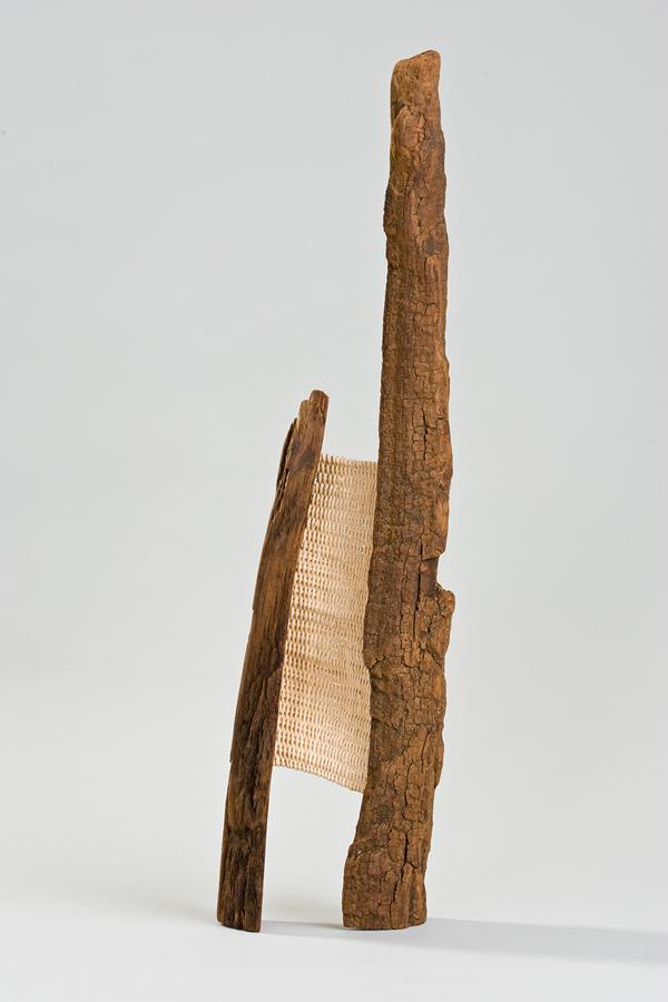 """Leeward, 24"""" x 7"""" x 4"""", wood, rattan"""