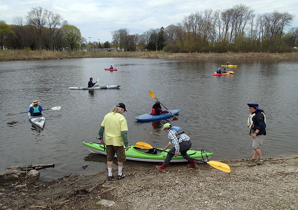 launching kayaks