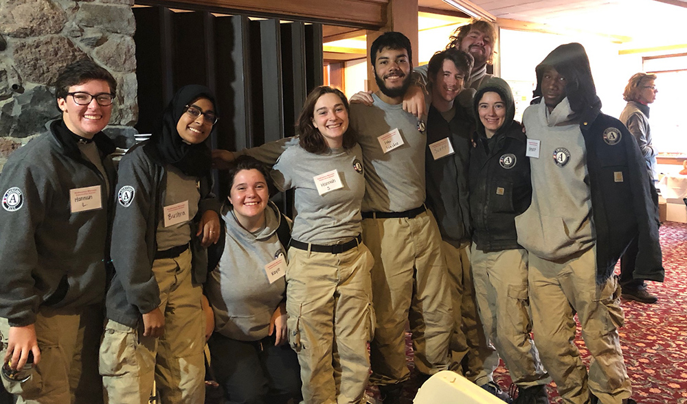 group of young people posing at Conservation Summit
