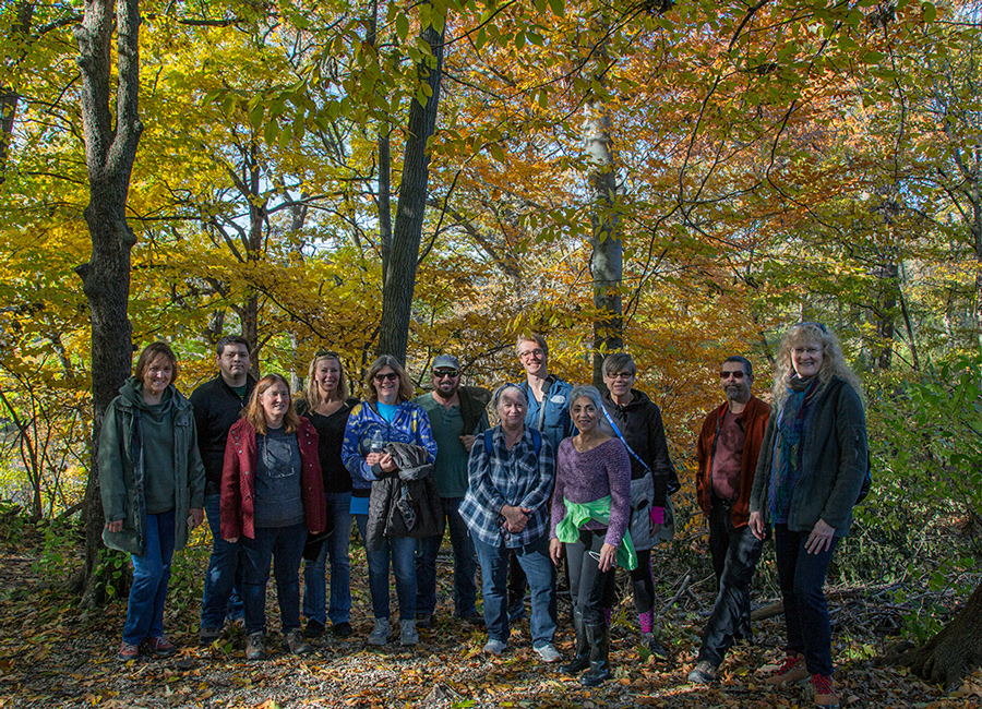 The Urban Wilderness Explorers hike the Milwaukee River Greenway in autumn