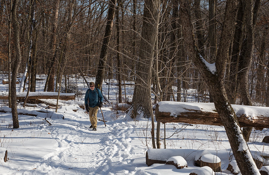 A solo hiker on the Ice Age Trail.