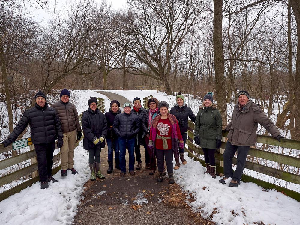 Group portrait of Urban Wilderness Explorers on Oak Leaf Trail
