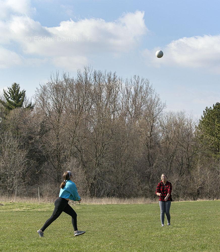 Danielle and Ashley, Ridge Run Park, West Bend.