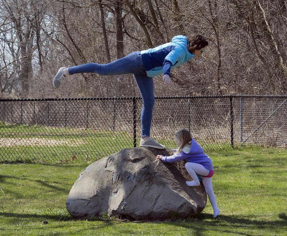 Carolyn and daughter, Estabrook Park, Milwaukee