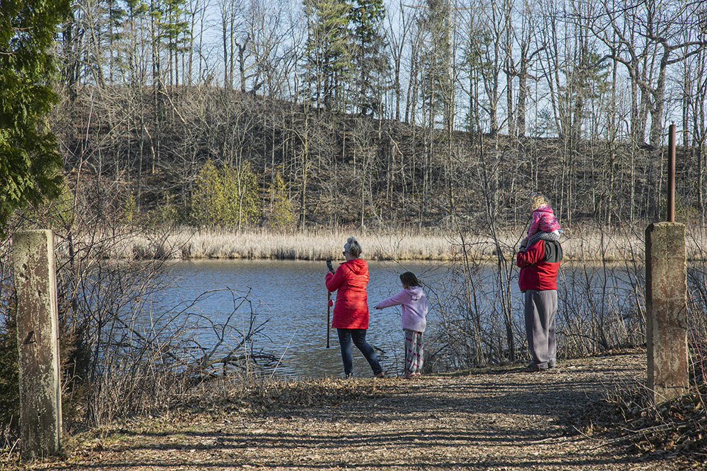 A family outing at Lac Lawrann Conservancy, West Bend.