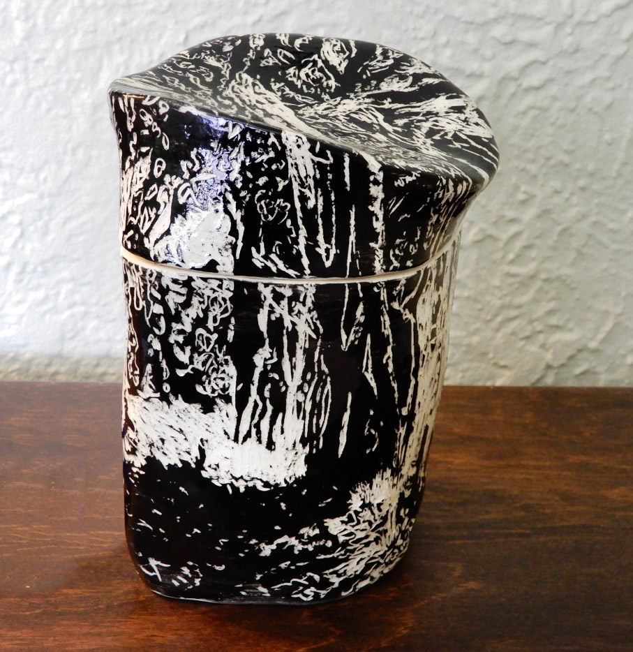"""Secret Place,"" ceramic lidded container"