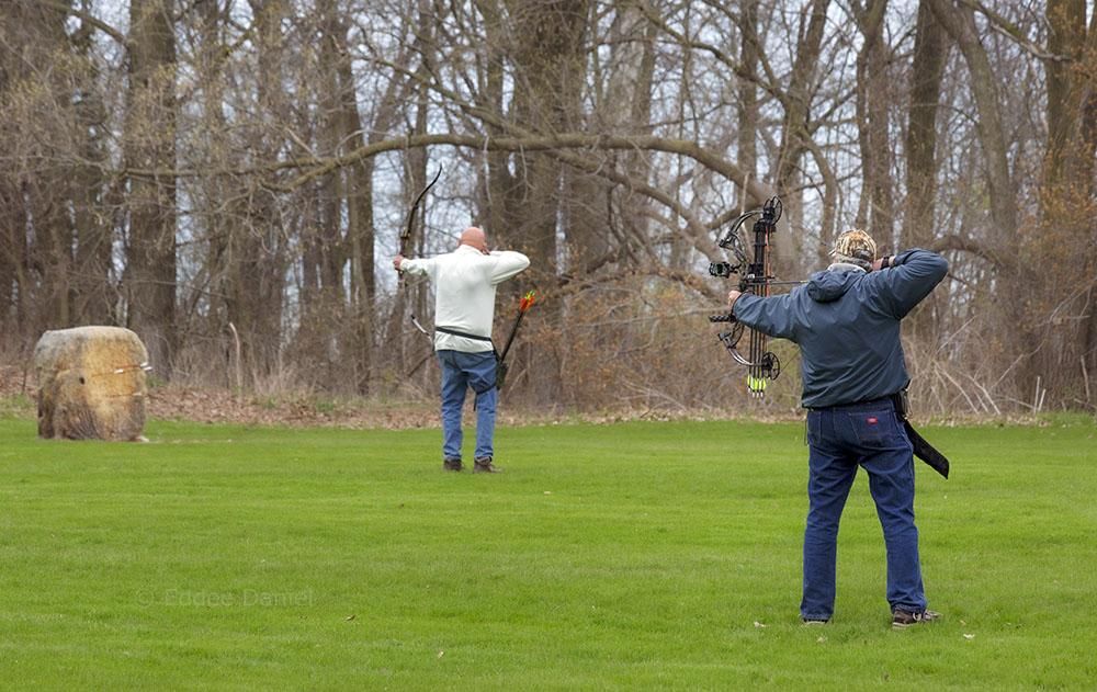 Social distance archery, Warnimont Park,
