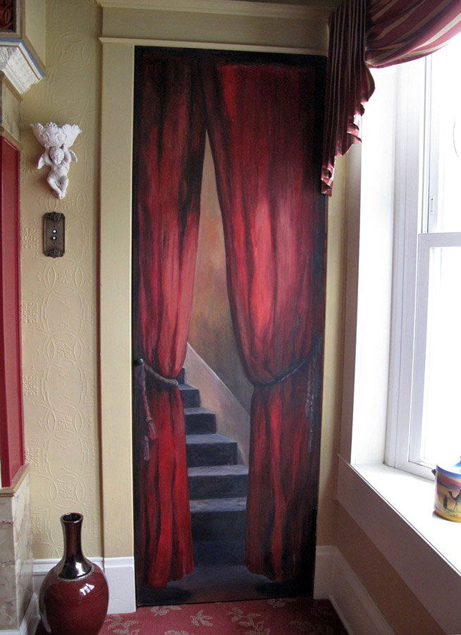 Door mural after Hopper, residential commission