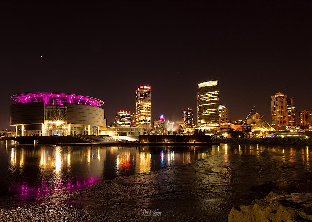 Milwaukee Skyline Valentines Day Panorama