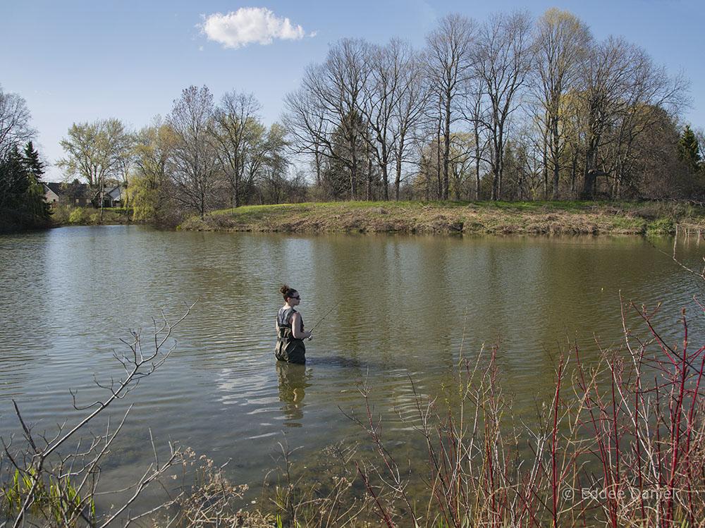 Fishing at Sam Poerio Park, Kenosha