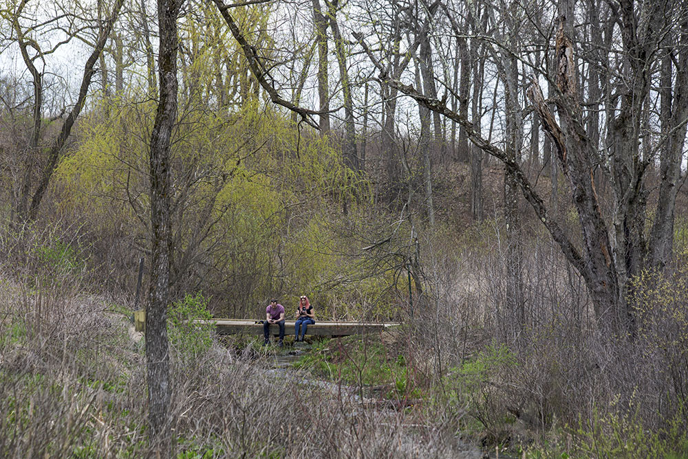 Jason & Elyssa on Scuppernong Springs Trail, Southern Unit of the Kettle Moraine State Forest