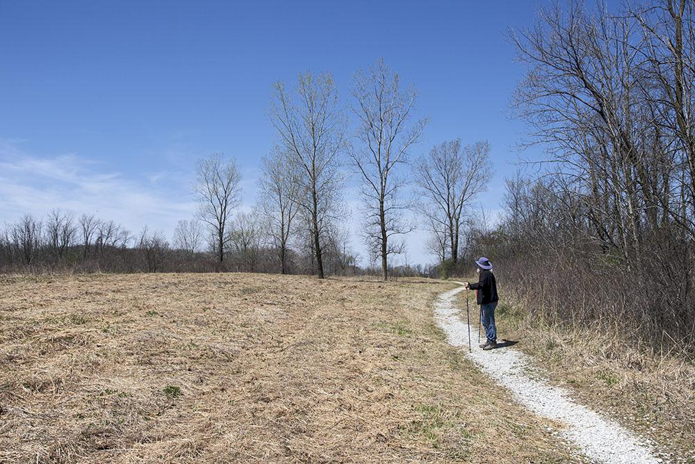 Gravel trail and mowed prairie, Grobschmidt Park