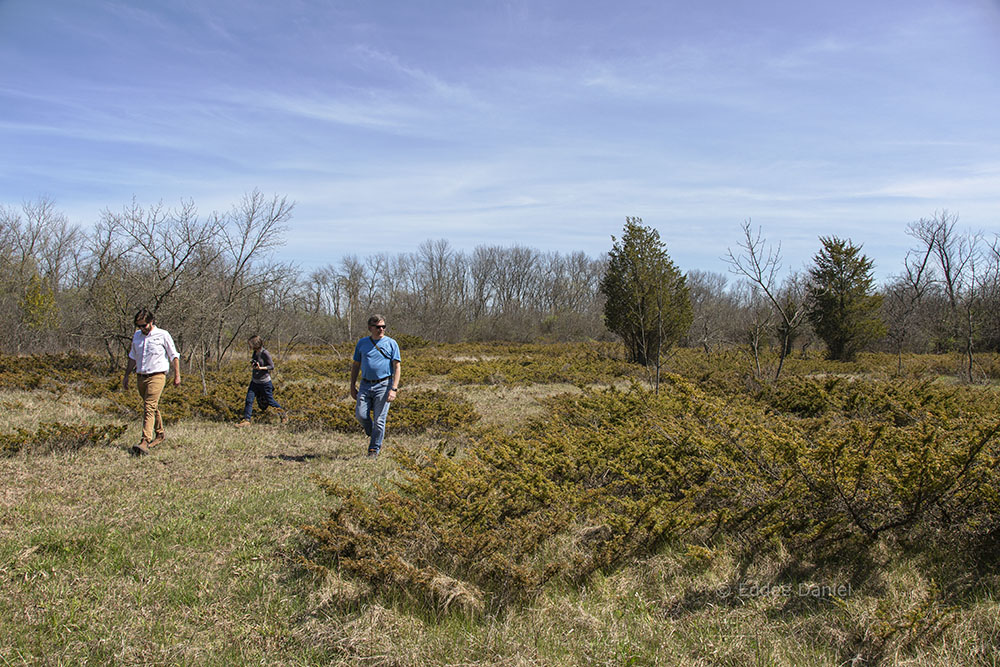 Ozaukee Washington Land Trust director, Tom Stolp leads a tour of a proposed new nature preserve at Cedar Gorge / Clay Bluffs, Port Washington
