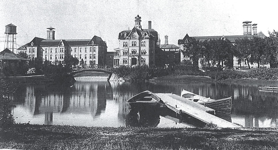 View of the Milwaukee County Asylum for the Insane.