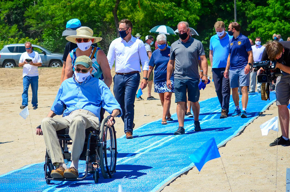 The Ability Center was responsible for developing and implementing the plan to make Bradford Beach accessible