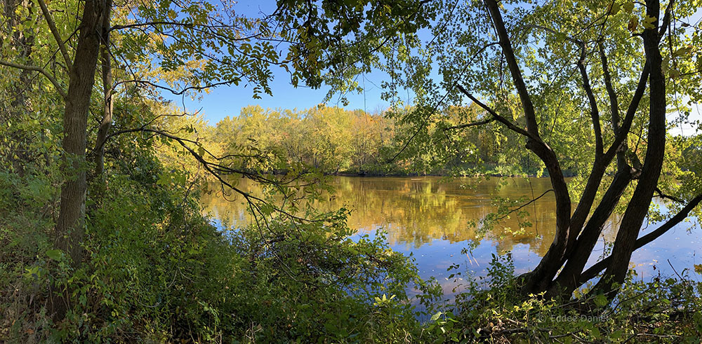 The Milwaukee River at Blue Heron Wildlife Preserve
