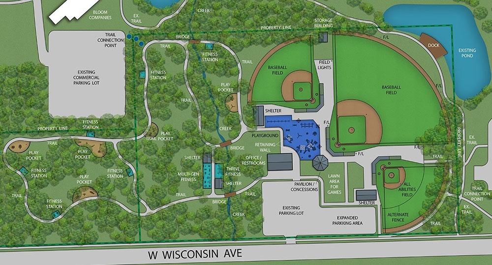 The Wisconsin Avenue Park Project Plan.