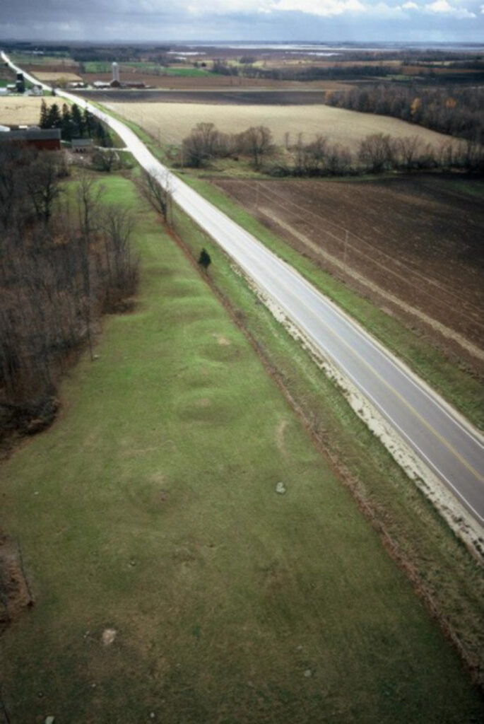 Aerial view of Kolterman Indian Mound Group