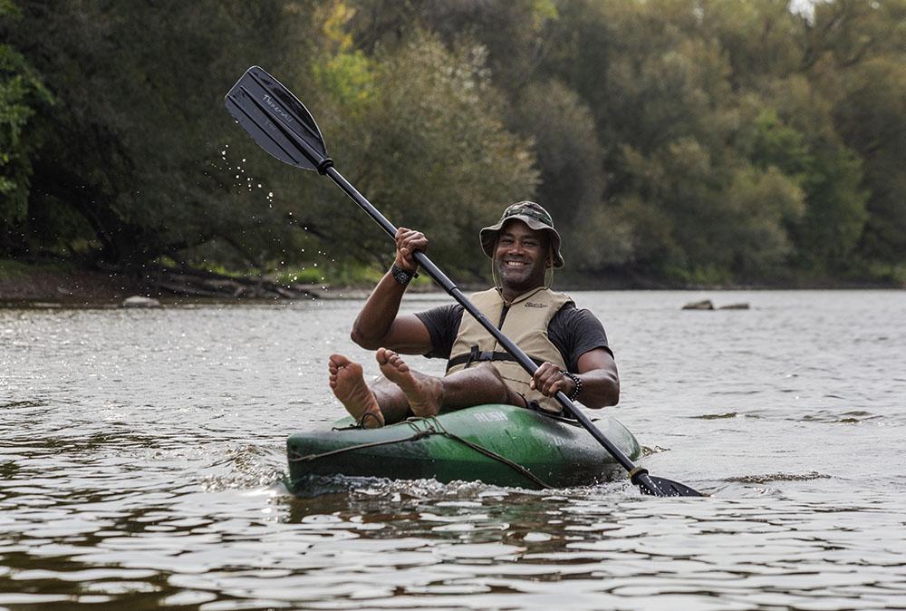 Steven kayaking in Lincoln Park