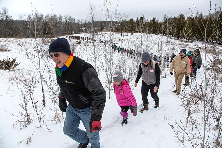 A Winter Walk in the Cedarburg Bog.