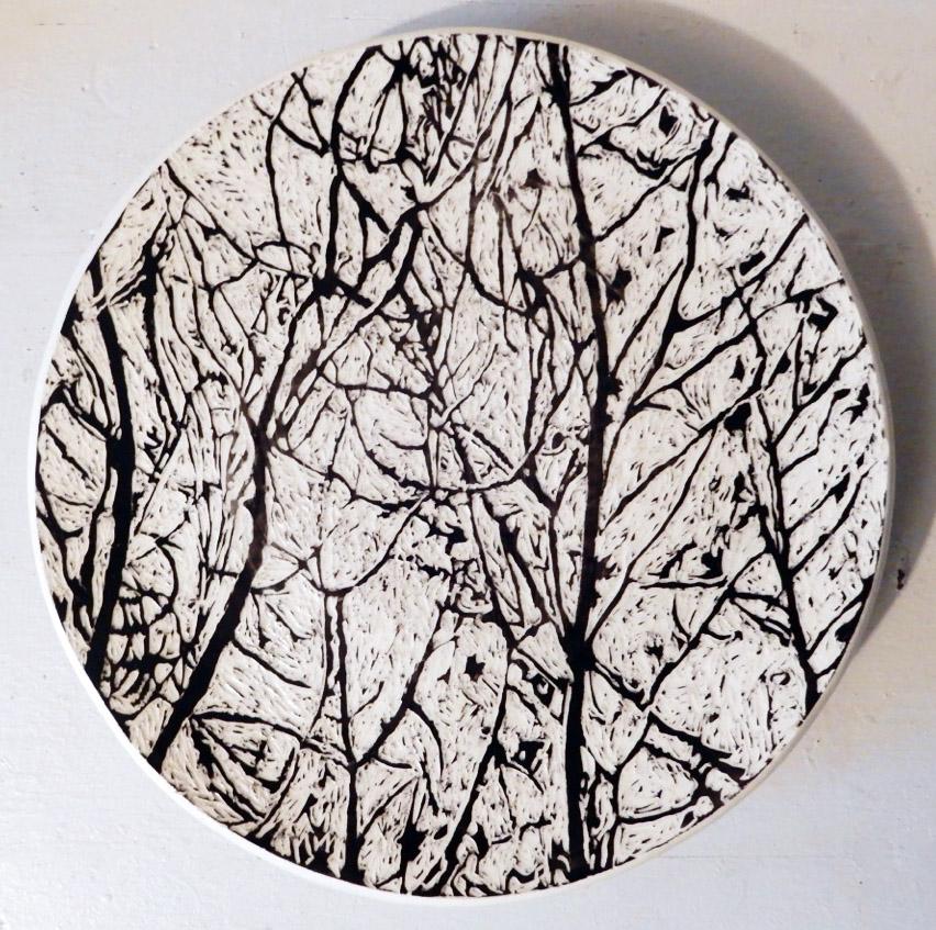Lacy Cupcake Platter, ceramic, by Glenda Puhek