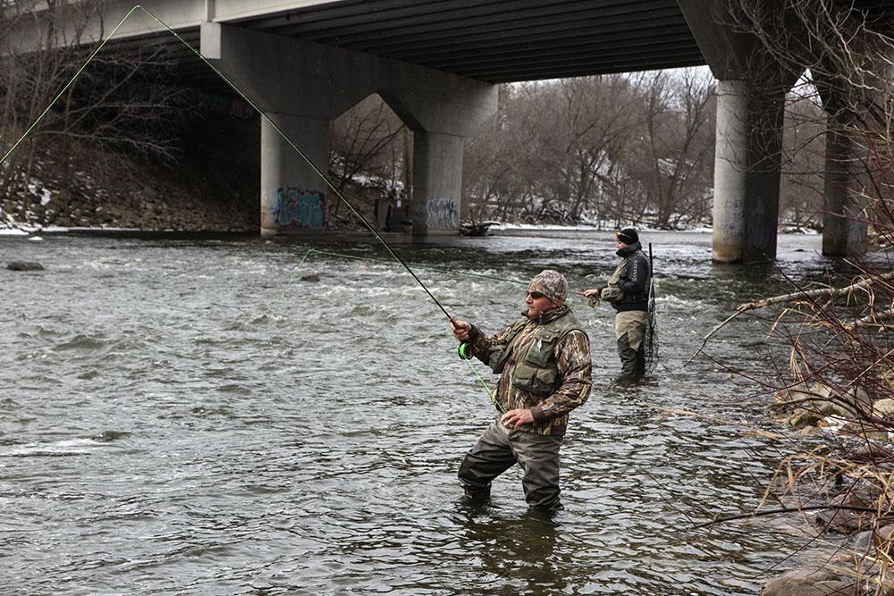 Fishing near the Capitol Drive Bridge
