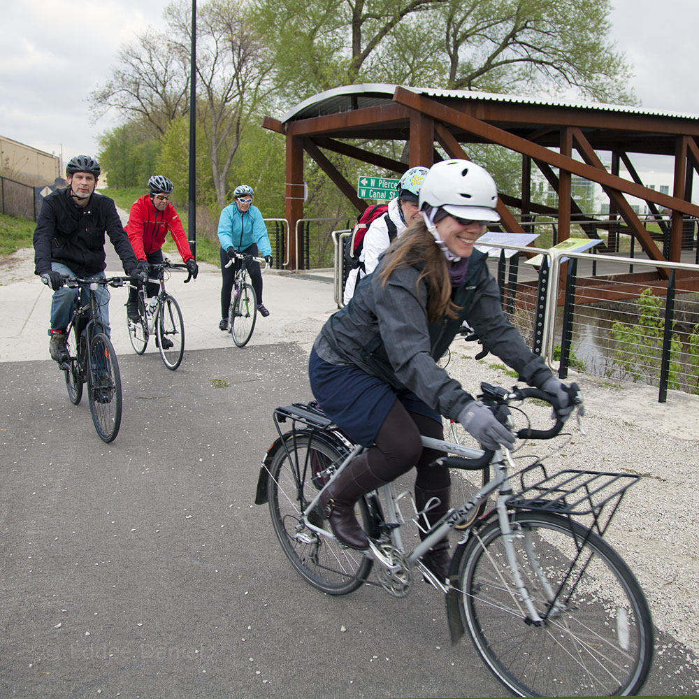 Bike to Work Week, Hank Aaron State Trail, Milwaukee