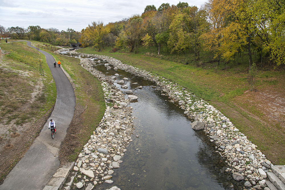 Kinnickinnic River Trail, Pulaski Park, Milwaukee