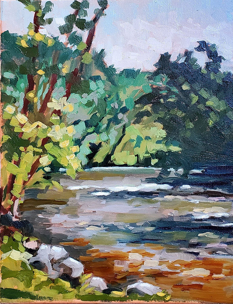"""Another Perfect Day."" Painted at Lime Kiln Park in Grafton, WI."